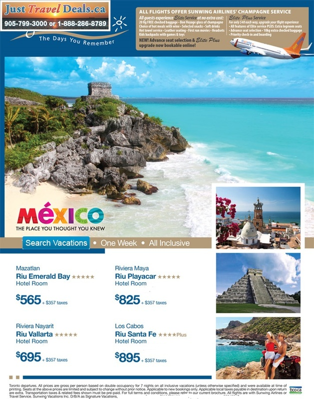 Mexico Cheap Vacations Riu Emerald Bay Riu Playacar Riu
